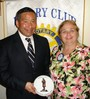 Speaker Dr. Kevin Kita with Vice President Michele Fina
